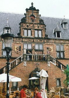 The town hall at Nijmegen, which handily houses a very nice bar