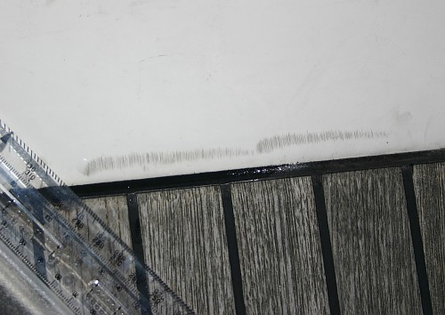 Scratches on the deck