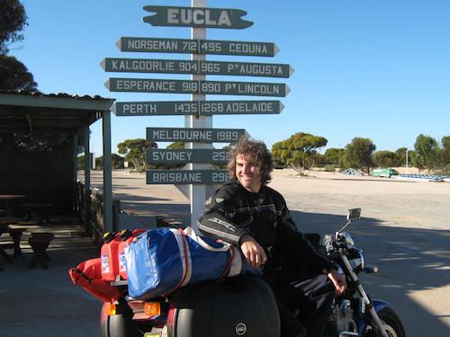 The half-way point at Eucla