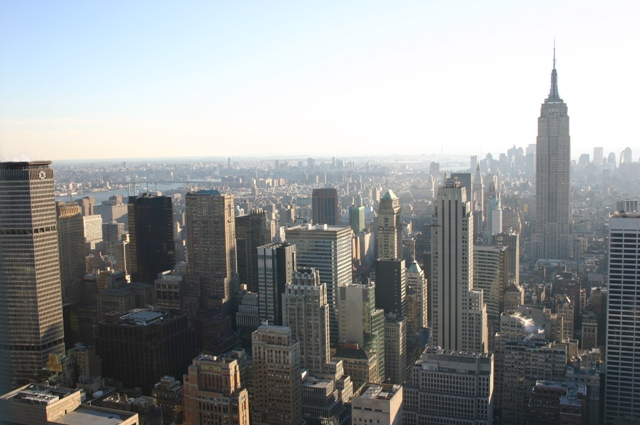 New York from the top of the Rockefeller Center