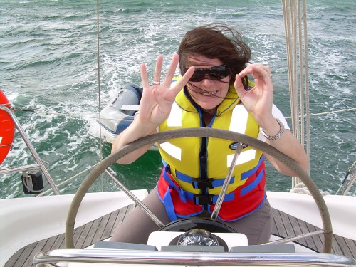 Bronwyn in 40 knots. Shortly after, it was 50 knots.