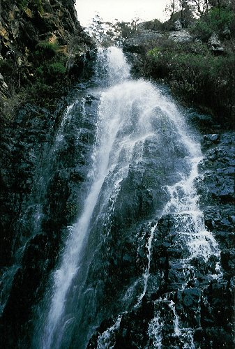 The Kalang Falls at dusk