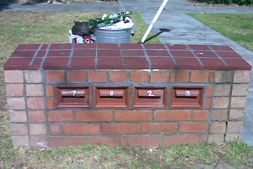 Typical Perth letter boxes