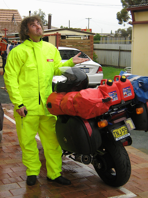 Bright Postie gear didn't stop the rain